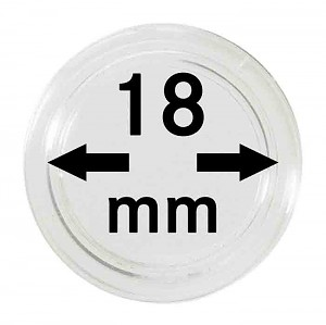 Coin Capsules 18mm, 1 Piece