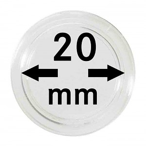Coin Capsules 20mm, 1 Piece