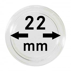 Coin Capsules 22mm, 1 Piece