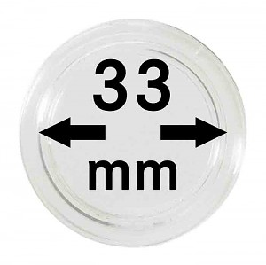 Coin Capsules 33mm, 1 Piece