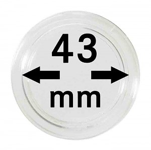 Coin Capsules 43mm, 1 Piece