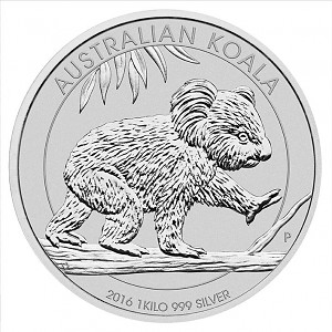 Koala 1kg Silver - 2016