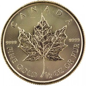 Canadian Maple Leaf 1/2oz Gold