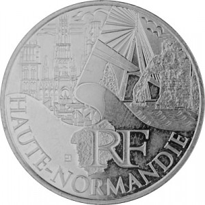 10 Euro Commemorative Coin France 5g Silver