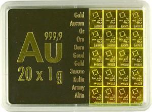 Gold Bar - CombiBar 20 x 1g