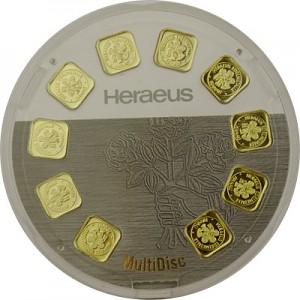 Gold Bar Heraeus 10x1g - Multidisc